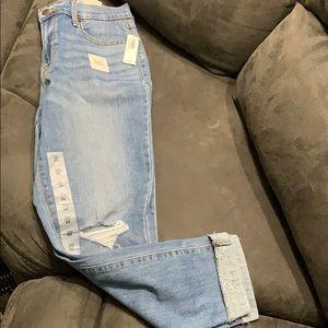 NWT Old Navy Curvy distress skinny jeans. Size 10